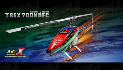 Align RC 6 Channel Helicopter T-REX 700 Nitro DFC Super Combo RH70N01X Kit