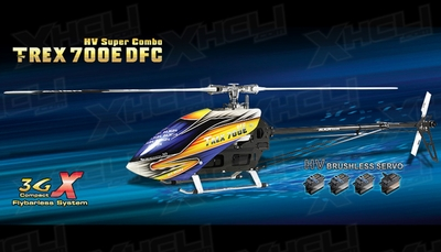 Align RC 6 Channel Helicopter T-REX 700E DFC HV Super Combo Promotion battery RH70E01X ARF