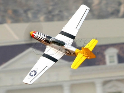 Artech P-51D Mustang Professional 4-Channel RTF Remote Control Scale Plane (Brushless Motor, 11.1V Lipo, 4CH)