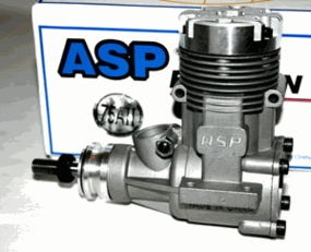 ASP-12.4CC Size .75 2-Stroke Glow Engine with Muffler for Nitro RC Planes 72P-75AII