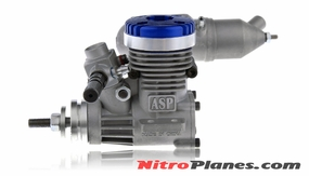 ASP S15A  2 Stroke Glow Engine with Muffler for Airplane 72P-S15A