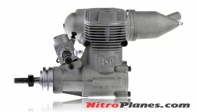 ASP S40A  2 Stroke Glow Engine with Muffler for Airplane 72P-S40A