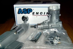 ASP S52AII 2 Stroke Glow Engine With Muffler For Airplane 72P