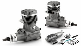 ASP S61AII 2 Stroke Glow Engine with Muffler for Airplane 72P-S61AII