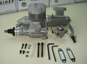 ASP S91AII 2 Stroke Glow Engine with Muffler for Airplane 72P-S91AII