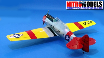 "AT-6 Texan 160 - 82"" ARF Nitro Gas Radio Remote Controlled Scale Airplane CMP-Gas-Texan160Silver"