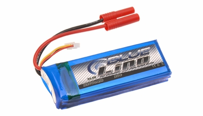 Blue Lipo 2200mAh 3S1P 11.1v 20C Battery