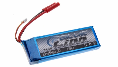 Blue Lipo 3-Cell 2650mAh 3S1P 11.1 40C RC Battery
