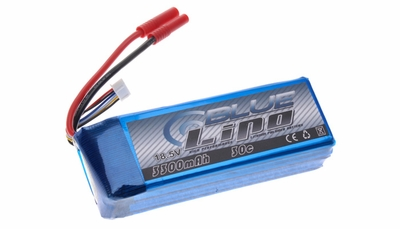 Blue Lipo 5-Cell 3300mAh 18.5v 5S1P 30C RC Battery w/ 4.0 Banana Connector