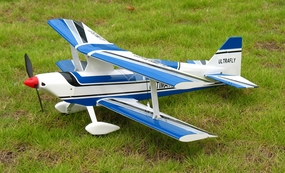 Blue Ultra Flying Ultimate BiPE ARF Brushless Electric  led Airplane R/C Aerobatic Bi-Plane RC Remote Control Radio