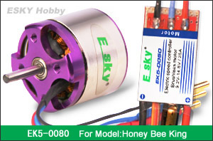 brushless motor 40g  3100RPM/V +speed controller 25A (FOR HONEY BEE KING) EK5-0080