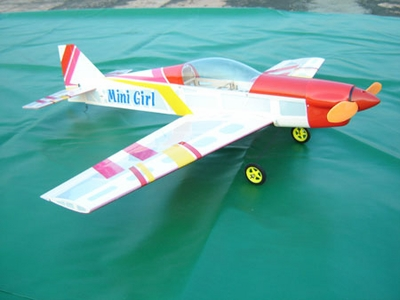 CLEARANCE SALE!!! 3CH Mini Girl ARF Brushless Powered Electric Radio Remote Control RC Airplane 12A05_MiniGirl