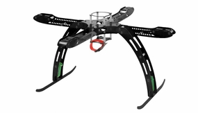 CR4-400 QuadCopter Fiber Glass KIT w/ Camera Mount (Black) RC Remote Control Radio