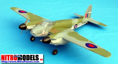 "DeHavilland Mosquito  Twin 25~32 - 73"" Engine Powered Radio Remote Controlled Nitro Gas Scale Airplane ARF CMP-Gas-Mosquito"