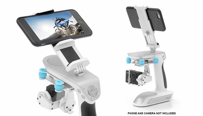 Dimension Professional 3 Axis Hand-Held GamaGrip Modular Gimbal Package Perfect For Iphone, Samsung Phones, Android, GoPro, DSLR Cameras