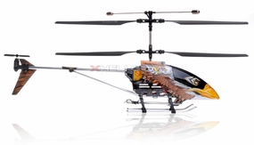 Double Horse 9051 3-Channel Brown Eagle Metal Frame RC Helicopter w/ Built in Gyro & Flashing LED Lights RC Remote Control Radio