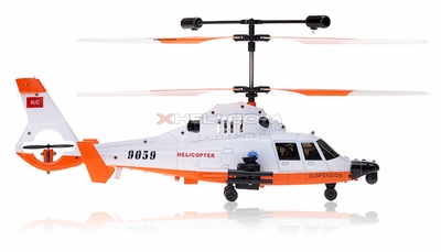 Double Horse 9059B 3 Channel Gunship Military RC Helicopter w/ Built in Gyro & Flashing Balance Bar RC Remote Control Radio