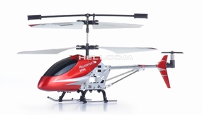 Double Horse 9098 3-Channel Mini Palm Size Radio Control Helicopter RTF w/ Aluminum Frame/Lights & Gyroscope System (Red) RC Remote Control Radio