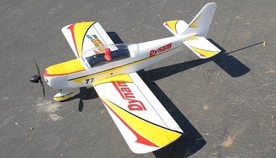 Dynam 4-CH Focus 400-EP Brushless Electric Aerobatics 3D RC Remote Control Airplane RTF 2.4Ghz (Yellow) RC Remote Control Radio