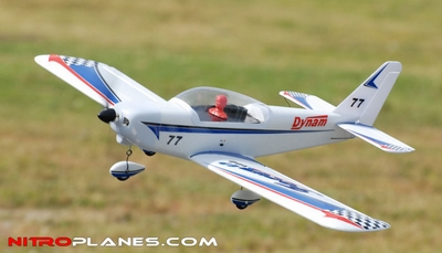 Dynam 4-CH Focus 400-EP Brushless Electric Aerobatics 3D RC Remote Control Airplane RTF (Blue) RC Remote Control Radio