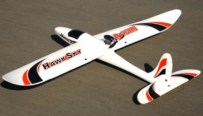 Dynam 4-CH Hawk Sky 1370MM Electric Brushless RC Airplane Glider 2.4G RTF RC Remote Control Radio