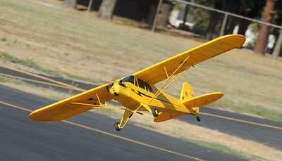 Dynam 4-CH J3 Piper Cub 1245mm Brushles Radio Remote Control Scale RC Plane 2.4G RTF (Yellow) RC Remote Control Radio