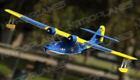 Dynam 4-CH PBY Catalina 1470MM Brushless Remote Control Seaplane 2.4G RTF (Blue) RC Remote Control Radio