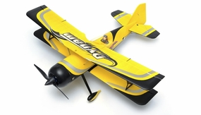 "Dynam 4-CH Peaks 1067MM 42"" Brushless 3D Radio Remote Control RC Bi-Plane 2.4G RTF (Yellow) RC Remote Control Radio"
