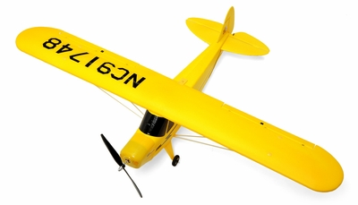 "Dynam 4-CH Super J3 Piper Cub 42"" (1070MM) Brushless Remote Control Electric Scale RC Plane 2.4G RTF RC Remote Control Radio"