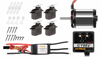 Dynam 450 brushless motor+40A ESC+4PCS 9g servos+GY48V gyro 60P-DY1019-450-Helicopter-Combo