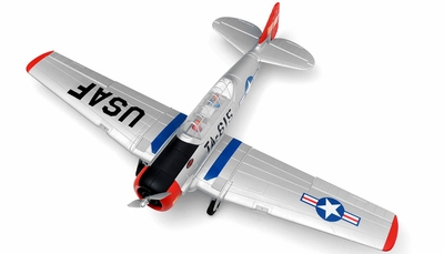 Dynam 5-CH AT-6 Texan 1370mm Brushless Radio Controlled RC Warbird Plane 2.4G RTF RC Remote Control Radio