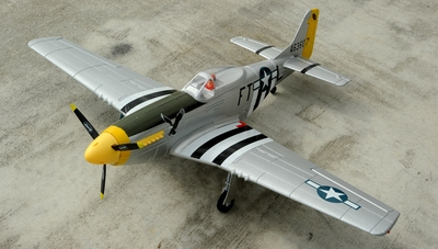 Dynam 5-CH P51D 1200mm Remote Control RC Warbird Plane 2.4G RTF w/ Brushless Motor+ESC + E-Retracts RC Remote Control Radio