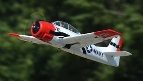 Dynam 5-CH T-28 Trojan 1270mm Brushless RC Warbird Plane (ARF Red) RC Remote Control Radio
