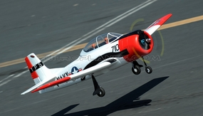 Dynam 5-CH T-28 Trojan 1270mm Remote Control RC Plane w/Brushless Power + Retracts 2.4G RTF (Red) RC Remote Control Radio