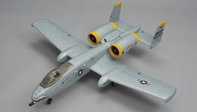 Dynam A-10 Thunderbolt II Twin 64mm EDF Jet with Retracts 2.4G RC 5 Channel Ready to Fly 1080mm Wingspan (Grey) RC Remote Control Radio