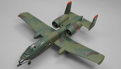 Dynam A-10 Thunderbolt II Twin 64mm EDF RC Jet with Retracts RC 5 Channel  Almost Ready to Fly 1080mm Wingspan (Green) RC Remote Control Radio