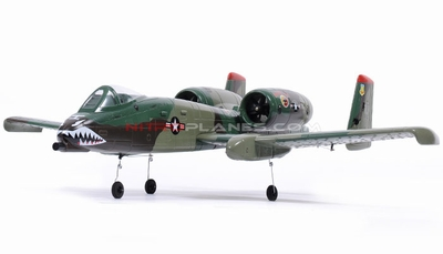 Dynam Dual 64MM A-10 Thunderbolt II EDF Jet ARF Receiver-Ready w/ Brushless Motor + ESC (Army Green) RC Remote Control Radio