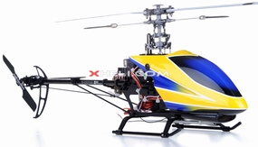 Dynam E-Razor 250 Pro Edition w/ CNC Upgraded Rotor Head RTF (Blue) RC Remote Control Radio