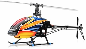 Dynam E-Razor 450 Flybarless Carbon 2.4ghz Ready to Fly RC 6 Channel Helicopter RC Remote Control Radio