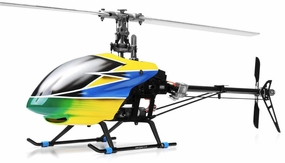 Dynam E-Razor 450 Flybarless Carbon 2.4ghz Ready to Fly RC 6 Channel Helicopter (Yellow) RC Remote Control Radio