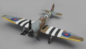 Dynam Hawker Tempest 5 Channel RC Warbird ARF 1250mm Wingspan RC Remote Control Radio