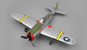 Dynam P47 Thunderbolt RC 5 Channel Warbird ARF Almost Ready to Fly  1220mm Wingspan RC Remote Control Radio