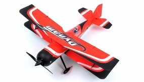 "Dynam Peaks 42"" RC 4 Channel 3D Bi-Plane ARF w/ Brushless Motor + ESC + Servos (Red) RC Remote Control Radio"