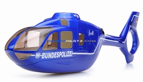 EC135 450 Pre-Painted Glass Fiber Fuselage BUNDESPOLIZEI Style (Blue) 96P-450-fuse-01-blue