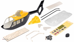 EC135 450? Pre-Painted Glass Fiber Fuselage for 450 Size Helicopters Yellow/Black 67P-450-EC135-405-YellowBlack