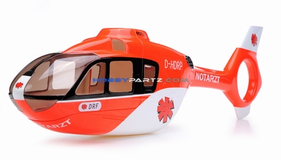 EC135 450 Pre-Painted Glass Fiber Fuselage Style (Red) 96P-450-fuse-01-red