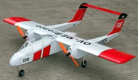 "Electric Brushless/Nitro Gas OV-10 Bronco 15 - 48"" Twin-Engine Radio Remote Controlled RC Airplane"