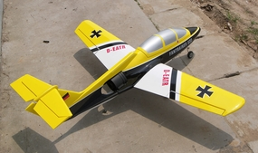 "Electric Ducted Fan RC Trainer Plane - Newest EDF-101mm - 51"" ARF Radio Controlled Airplane (Yellow)"