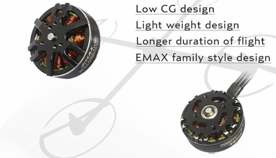 EMAX MT3506 650kv Brushless Motor for Multirotors (Plus Thread)