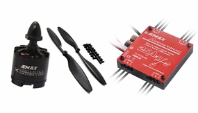EMAX Quadcopter 550mm Combo 2 (4x MT2216-810kv + 4x 25A Multirotor 4 in 1 ESC + 4 pair x 1045 CW,CCW Prop)